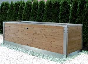 hochbeet bausatz mit aluminium unterbau rahmen hochbeete u komposter von herb gr. Black Bedroom Furniture Sets. Home Design Ideas
